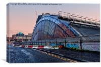Glasgow Queen Street Station Dusk, Canvas Print