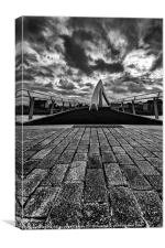 Squiggly Bridge Glasgow Portrait, Canvas Print