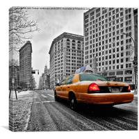 NYC Yellow Cab Popped, Canvas Print