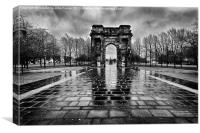 McLellan Arch Glasgow Green, Canvas Print