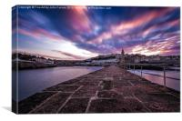 Stunning Sunrise Porthleven Insitute Pier, Canvas Print