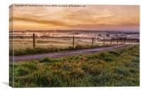 Peaceful sunrise in Cornwall England, Canvas Print