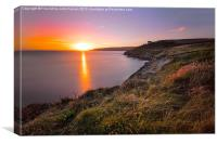 Stunning Sunset Cornwall, Canvas Print