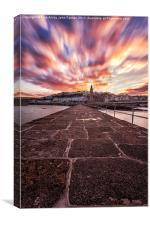 Stunning Sunrise Porthleven Insitute Pier, Canvas Print