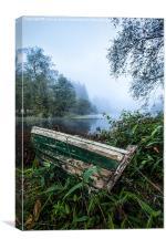 Loch Ard boat, Canvas Print
