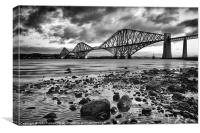 Forth Rail Bridge mono, Canvas Print