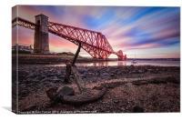Canvas Forth Rail Bridge colour sunrise, Canvas Print