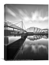 Canvas print Glasgow Armadillo and Bells Bridge, Canvas Print