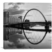 The Cyde Arc Squinty Bridge, Canvas Print