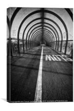 Clydeside walkway, Canvas Print