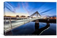 Squiggly Bridge Glasgow, Canvas Print