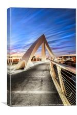 The squiggly Bridge, Canvas Print