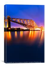 Forth Rail bridge Pre Dawn, Canvas Print