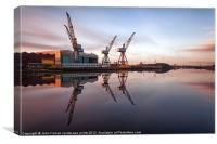 Clyde Cranes Sunrise, Canvas Print