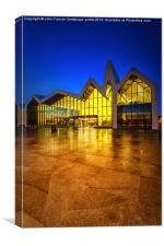 Iconic waterfront museum glasgow, Canvas Print