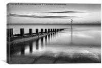 Portobello sea defences, Canvas Print