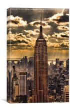 Empire state building, Canvas Print