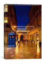 Police call box Glasgow, Canvas Print