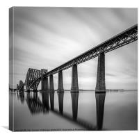Forth Rail Bridge mono sunrise, Canvas Print
