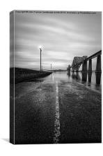 Slipping away Forth Bridges, Canvas Print