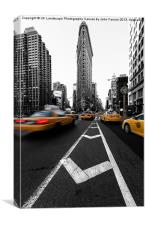 Canvas print Flatiron Building yellow cabs, Canvas Print
