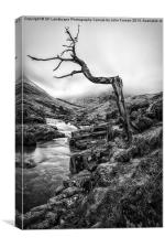 The accusing finger Glen Etive, Canvas Print