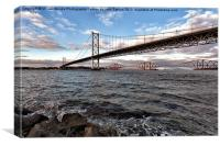 Forth Bridges Scotland, Canvas Print