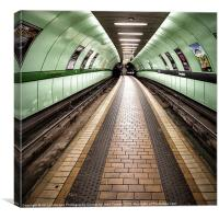 Glasgow Subway Oh so quiet, Canvas Print