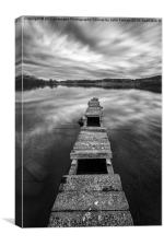 Across The Jetty on Loch Ard, Canvas Print