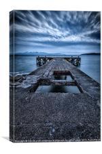 Portencross Pier, Canvas Print