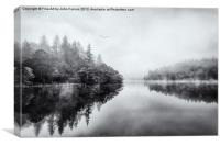 Loch Ard early mist, Canvas Print