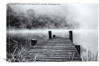 The Jetty Loch Ard, Canvas Print