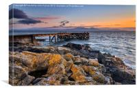 Portencross and Arran Jetty, Canvas Print