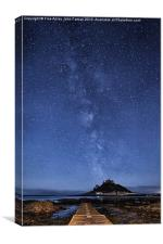 The mount and the milkyway, Canvas Print