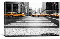 Penn Station Yellow Taxi, Canvas Print