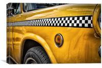 vintage yellow cab, Canvas Print