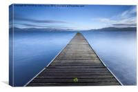 Cruin Jetty Loch Lomond, Canvas Print
