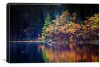 Loch Ard in Autumn, Canvas Print