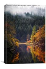 Loch Ard in Autumn, Canvas Print