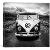 Vintage VW Camper Glencoe, Canvas Print