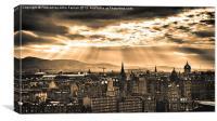 Edinburgh vista, Canvas Print