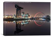 Finnieston Crane Clyde Arc Glasgow, Canvas Print