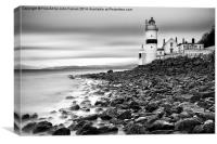 Cloch Lighthouse, Canvas Print