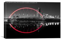 squinty Bridge red, Canvas Print