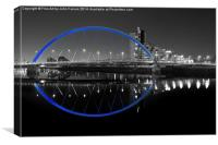 squinty bridge blue, Canvas Print