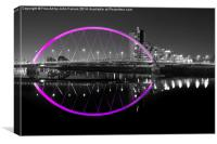 squinty Bridge magenta, Canvas Print