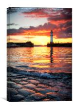 Newhaven Harbour, Canvas Print