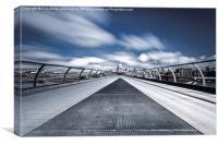 The Millennium Bridge , Canvas Print