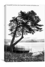 Tranquil Scottish Loch , Canvas Print
