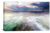 The colours of the Dawn North Berwick, Canvas Print
